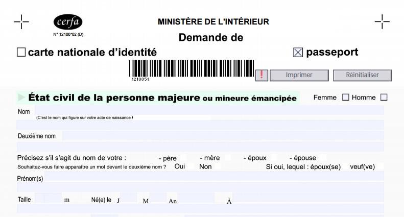 formulaire 12100*2 carte didentité